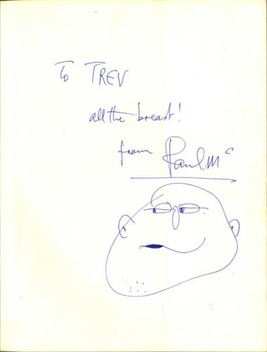Paul McCartney Autographed Composer/Artist Book w Hand Drawn Sketch TRACKS COA