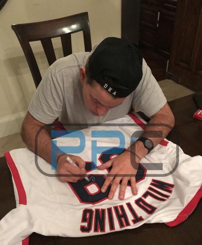 "Charlie Sheen Major League ""Vaughn"" Signed Ricky Wildthing Vaughn Jersey BAS"