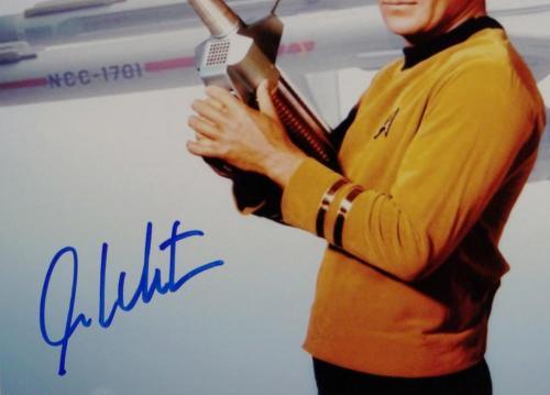 William Shatner Signed Star Trek 8x10 Photo Enterprise/Space Gun - JSA W Auth