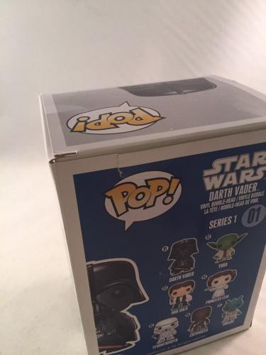 Dave Prowse Signed Star Wars Darth Vader Funko Pop Jsa 4