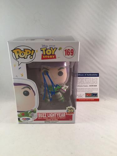 Tim Allen Signed Disney Toy Story Buzz Lightyear Funko Pop Psa/dna 2