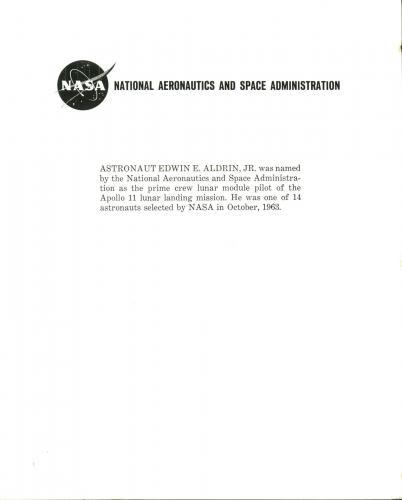 """Edwin """"Buzz"""" Aldrin NASA Press Photo Signed 8X10 Photo w/ Inscription BAS C10249"""