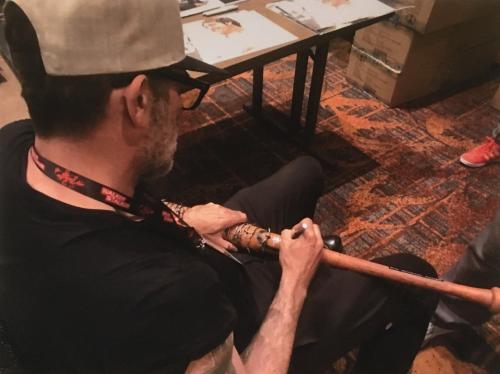 Jeffrey Dean Morgan Negan Walking Dead signed Lucille Bat mint autograph JSA COA