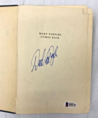DICK VAN DYKE Signed Vintage 1935 MARY POPPINS Hardcover Book BAS Beckett COA