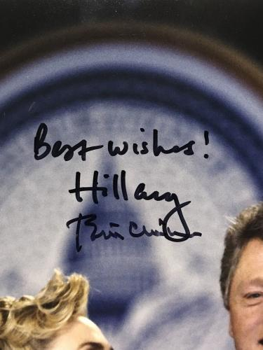 Hillary Bill Clinton President 1st lady signed 11x14 photo framed 2 auto PSA LOA