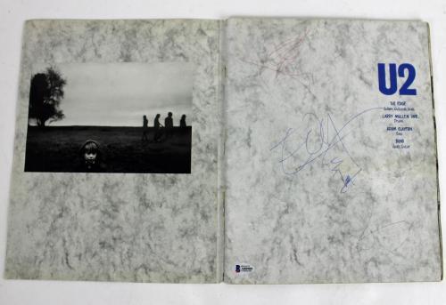U2 (4) Bono, Edge, Mullen & Clayton Signed Joshua Tree World Tour Program BAS