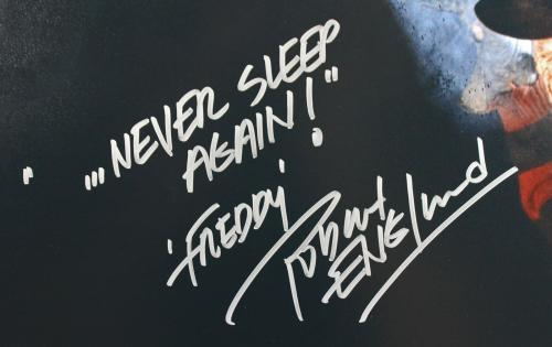 "Robert Englund Nightmare On Elm St ""Never Sleep Again"" Signed 16X20 Photo BAS"