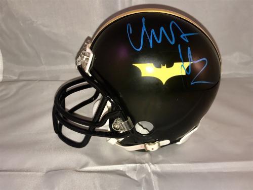 Christian Bale Signed Custom Batman Mini Helmet Funko Dark Knight  Psa Dna Nfl