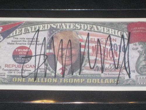 Donald Trump President Billionaire Genuine Hand Signed Autographed Bill Cas Coa