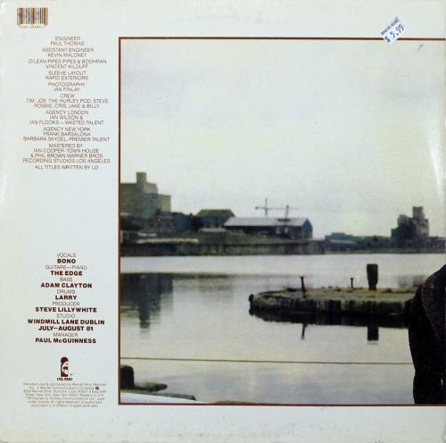 Bono U2 Signed October Album Cover W/ Vinyl Autographed BAS #C19044