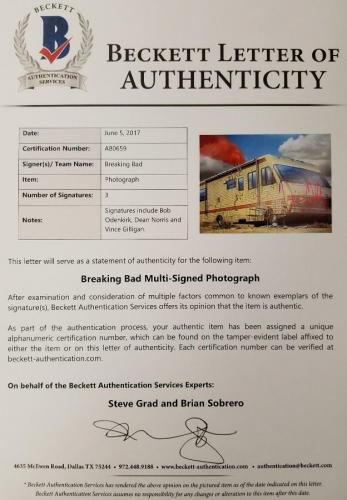 BOB ODENKIRK + NORRIS + GILLIGAN Signed 11x14 Photo BREAKING BAD Beckett BAS COA