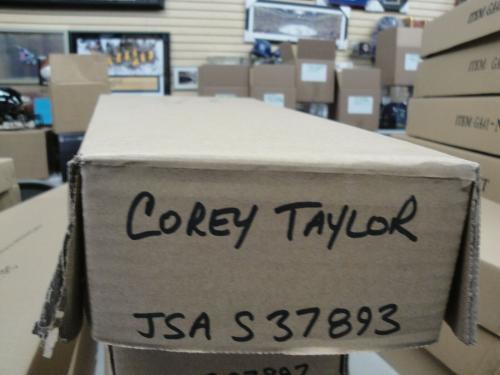 Corey Taylor Hand Signed Autographed Electric Guitar Rock Slipknot JSA S37893