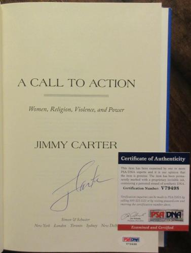 President Jimmy Carter Signed Book - A Call To Action - PSA DNA