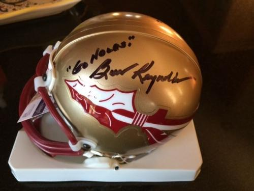 Burt Reynolds Hand Signed Florida State Mini Helmet    Rare   Signed Twice   Jsa