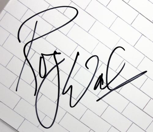 Roger Waters Pink Floyd Signed The Wall Album Cover W/ Vinyl BAS #A09485