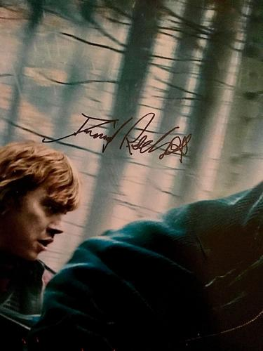 Daniel Radcliffe Signed Harry Potter & The Deathly Hallows Part 1 Poster BAS COA