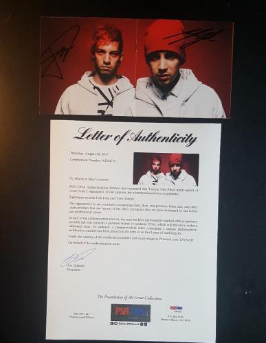 21 Twenty One Pilots Josh Dun Tyler Joseph Signed Blurryface CD  PSA/DNA