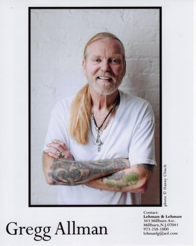 GREGG ALLMAN HAND SIGNED 8x10 PHOTO        THE ALLMAN BROTHERS     RARE      JSA