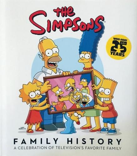 Matt Groening Signed The Simpsons Family History Book + Bart Sketch 1/1 Psa/dna