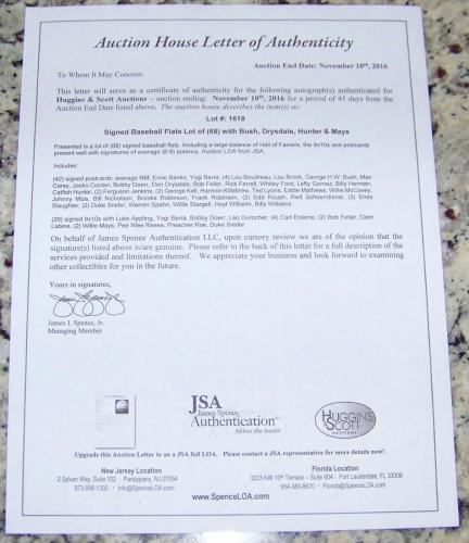 President George H.W. Bush Signed Autographed Perez Steele Post Card JSA AH LOA!