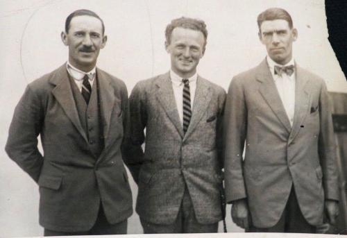 1922 George Duncan, Willie Hunter, Abe Mitchell, British Golfers Orig Wire Photo