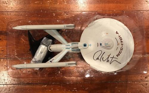 William Shatner Signed Diamond Select Star Trek Enterprise NCC-1701-A Beckett