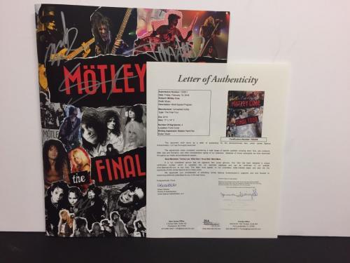 Tommy Lee Nikki Sixx Vince Neil Motley Crue Signed FINAL TOUR Program JSA
