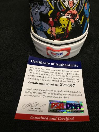 Stan Lee Signed Vans X-Men- Marvel Vintage Comicbook Era Skate Shoes PSA