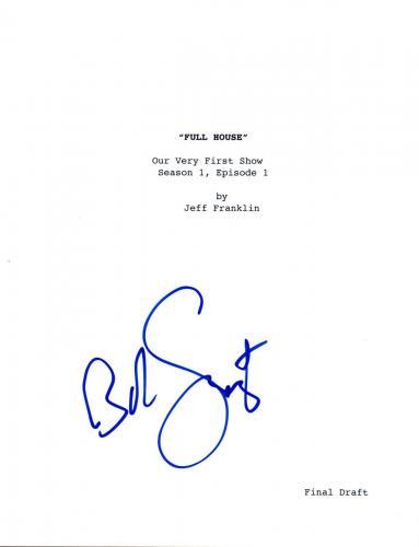 Bob Saget Signed Autographed FULL HOUSE Pilot Episode Script COA VD