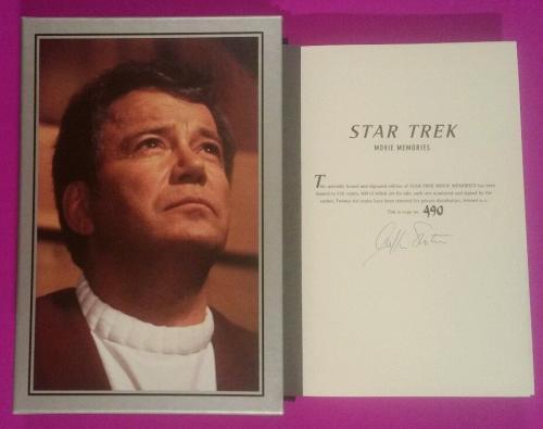 William Shatner Signed Deluxe Slipcase Limited Edition Star Trek Movie Memories