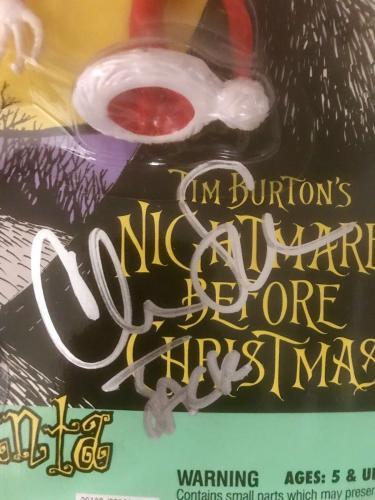 Chris Sarandon Hasbro Signed Nightmare Before Xmas Jack Skellington Santa COA
