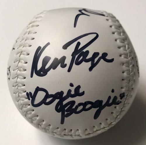 Chris Sarandon Ken Page Nightmare Before Christmas Signed Baseball BAS COA (B)
