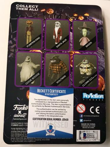 Ken Page Oogie Boogie Nightmare Before Christmas Signed Funko Reaction BAS COA