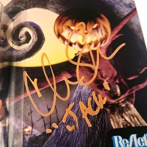 Chris Sarandon Nightmare Before Christmas Pumpkin Signed Funko Reaction BAS COA