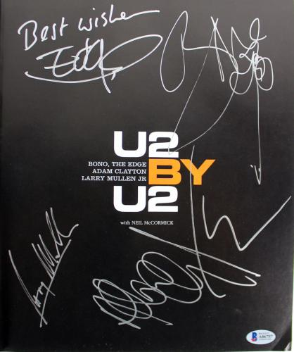 U2 (4) Bono, Edge, Mullen & Clayton Signed Hard Cover Autobiography #A06757
