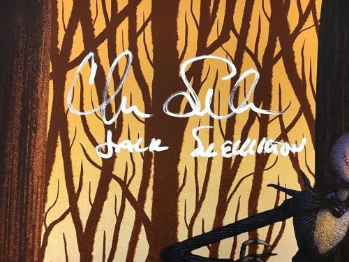 Catherine O'Hara Chris Sarandon Signed Nightmare Before Xmas 24x36 Litho BAS COA