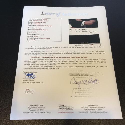 President George H.W. Bush Signed Autographed 8x10 White House Photo JSA COA