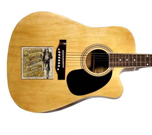 Steven Tyler Signed Were All Somebody From Somewhere Album CD Acoustic Guitar AF