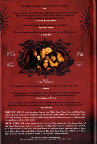 Nikki Sixx Autographed Signed Motley Crue The Dirt Book AFTAL UACC RD COA