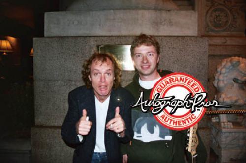 AC/DC Angus Young Signed High Voltage Album LP Guitar AFTAL UACC RD RACC TS