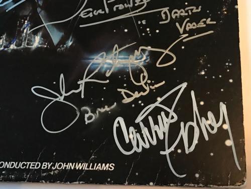 Star Wars signed album esb carrie fisher mark hamill kenny baker beckett loa