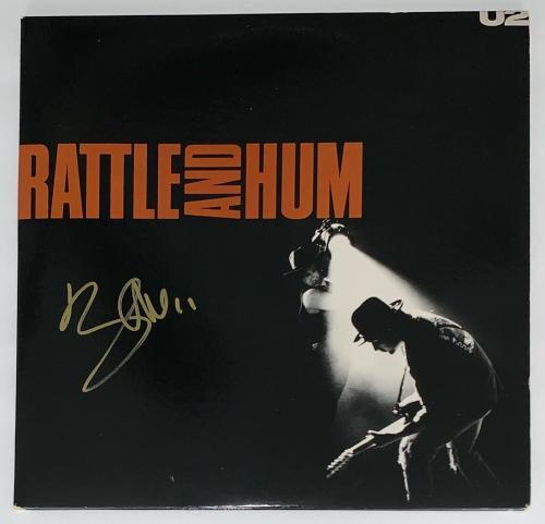 Bono Signed U2 Rattle And Hum Record Album Jsa Loa Z08923