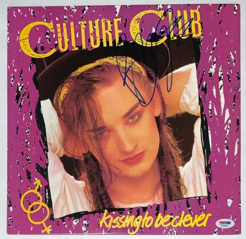 Boy George Signed Culture Club Kissing To Be Clever Record Album Psa Coa Ad48363