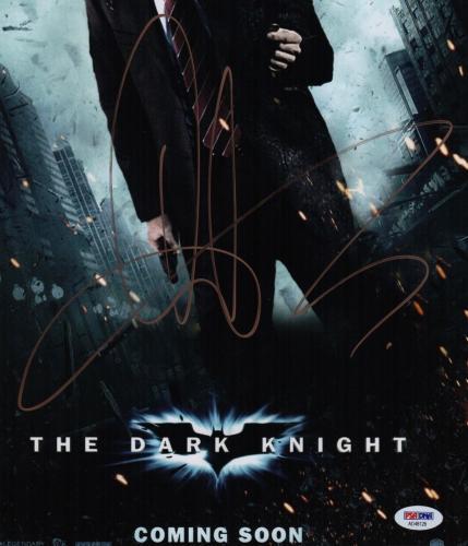 Aaron Eckhart Signed The Dark Knight 11x17 Movie Poster Psa Coa Ad48128