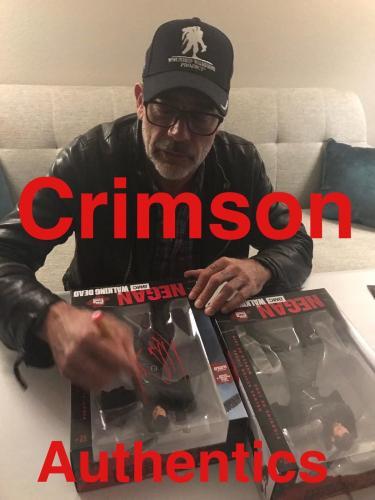 Jeffrey Dean Morgan SIGNED Negan 10 Inch Figure JSA PIC PROOF The Walking Dead