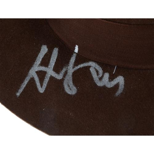 Harrison Ford Autographed Indiana Jones Wool Hat - BAS COA