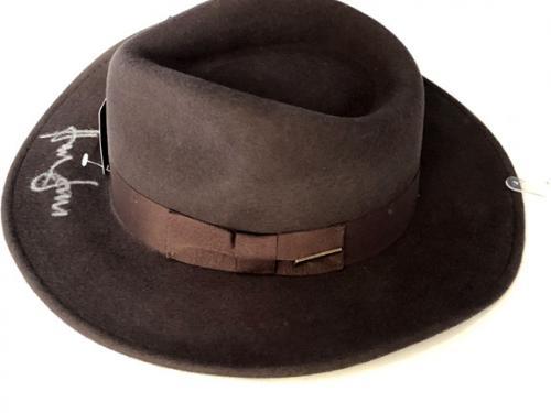 Harrison Ford Autographed Indiana Jones Hat Official Pix COA UACC RD AFTAL RACC