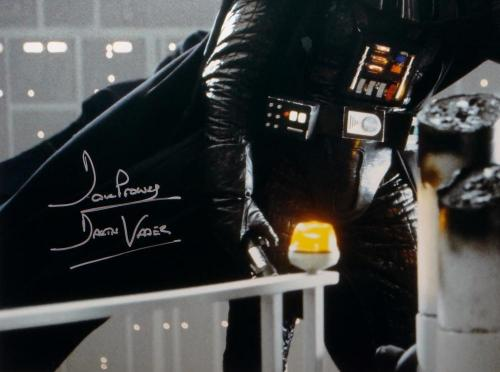 David Prowse Darth Vader Signed Star Wars 16x20 Gray Photo- JSA Auth *Silver