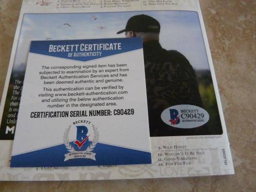 Mike Love Beach Boys Unleash The Love Autograph Signed CD Book Beckett Certified