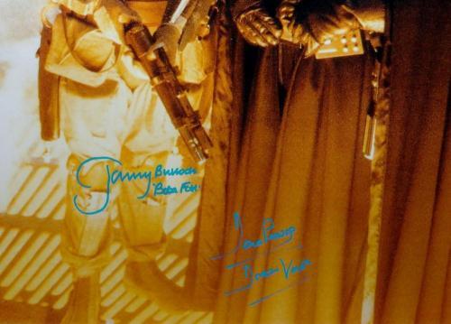 Bulloch/ Prowse Signed Star Wars 16x20 Boba Fett Darth Vader Photo- JSA Auth *Bl